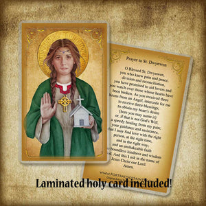 St. Dwynwen Pendant & Holy Card Gift Set