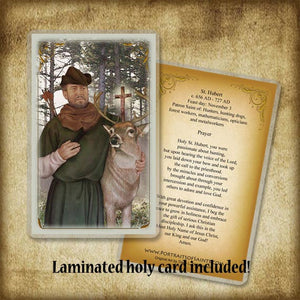 St. Hubert Pendant & Holy Card Gift Set