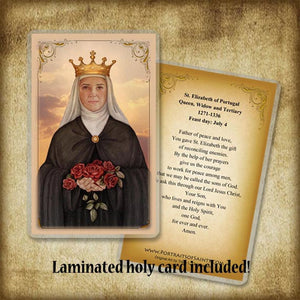 St. Elizabeth of Portugal Pendant & Holy Card Gift Set