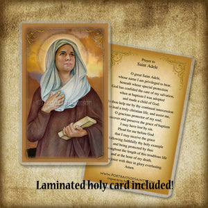 St. Adele Pendant & Holy Card Gift Set