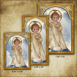 Savior of the World Plaque & Holy Card Gift Set