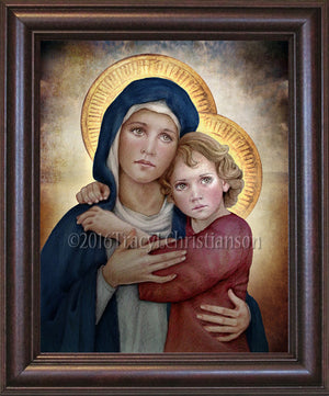 Madonna & Child (M) Framed Art
