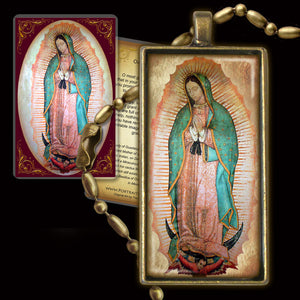 Our Lady of Guadalupe Pendant & Holy Card Gift Set