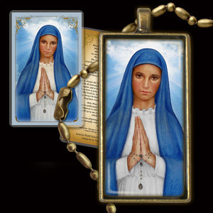 Our Lady of Kibeho Pendant & Holy Card Gift Set
