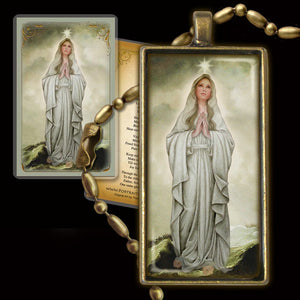 Our Lady, Star of the Sea Pendant & Holy Card Gift Set