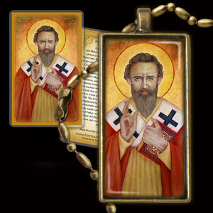 St. Basil the Great Pendant & Holy Card Gift Set
