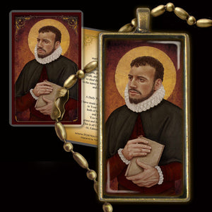 St. Edmund Campion Pendant & Holy Card Gift Set