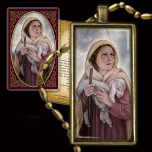 St. Germaine Cousin Pendant & Holy Card Gift Set
