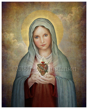 Immaculate Heart of Mary (A) Print