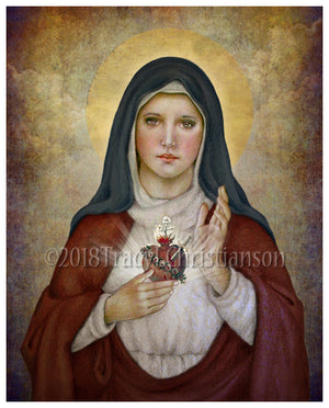 Immaculate Heart of Mary (B) Print