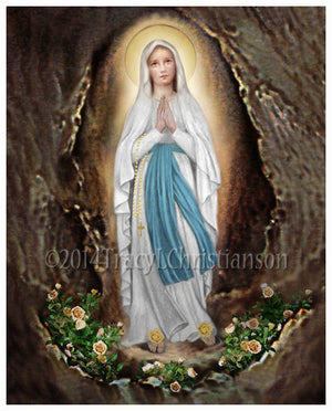 Our Lady of Lourdes Print