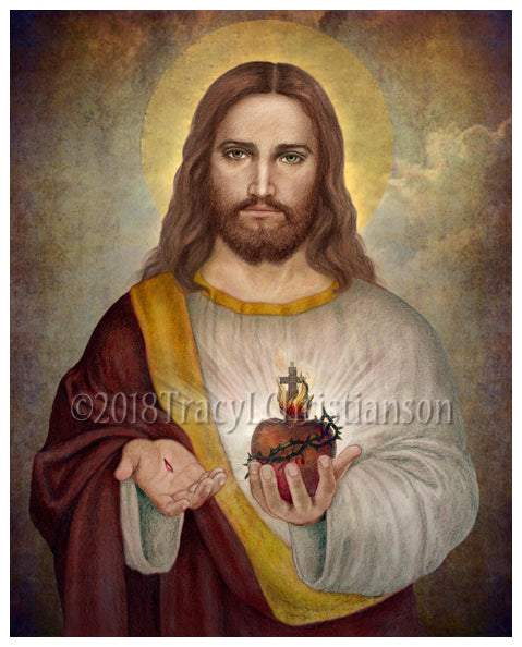 Sacred Heart of Jesus (A) Print