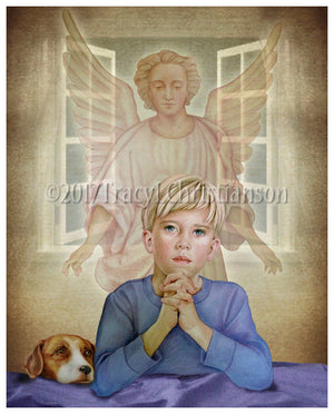 Guardian Angel/Boy Print