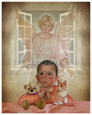 Guardian Angel/Boy (B) Print