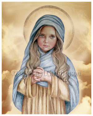 The Child Mary Print