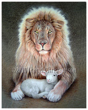 Lion and Lamb Print