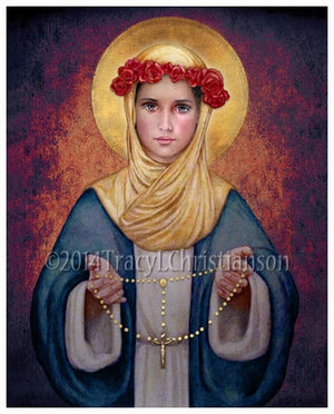 Our Lady of the Rosary Print