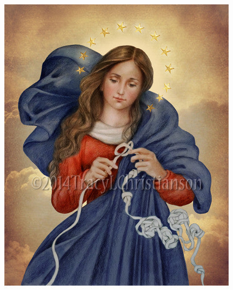 Our Lady Undoer of Knots Print