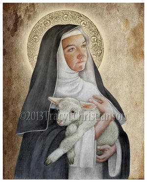 St. Agnes of Montepulciano Print