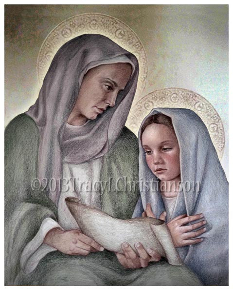 St. Anne and Mary Print