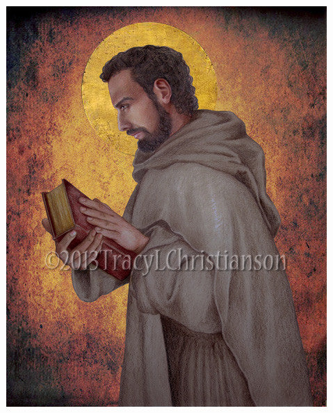 St. Augustine of Hippo Print - Portraits of Saints