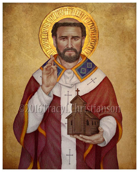 St. Augustine of Canterbury Print - Portraits of Saints