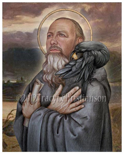 St. Benedict of Nursia Print
