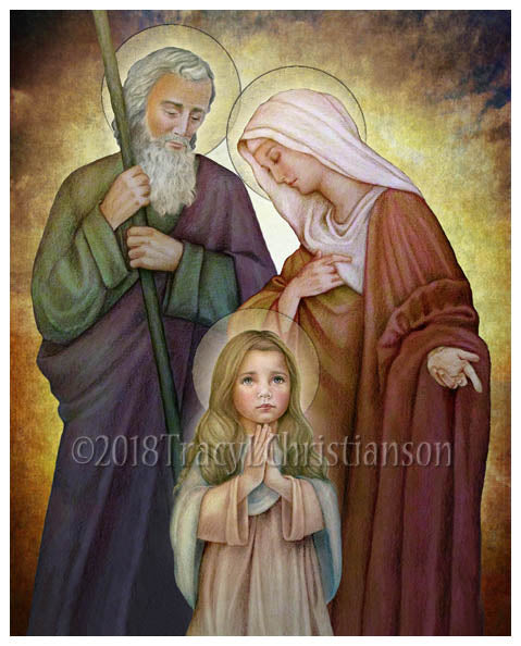 St. Joachim and St. Anne with the Child Mary Print