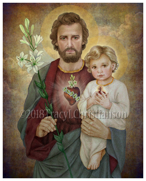 St. Joseph, The Most Chaste Heart, Print