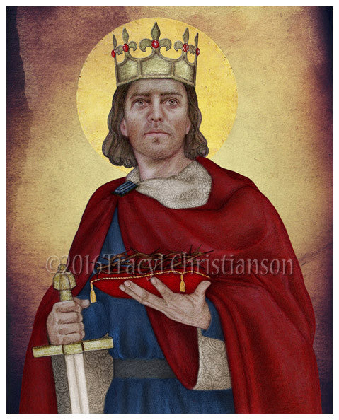 American Express Usa >> St. Louis IX, King of France Print - Portraits of Saints