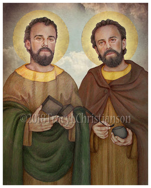 St. Cosmas and St. Damian Print