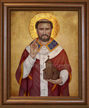 St. Augustine of Canterbury Framed