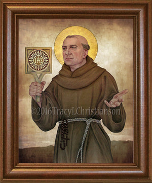 St. Bernardine of Siena Framed