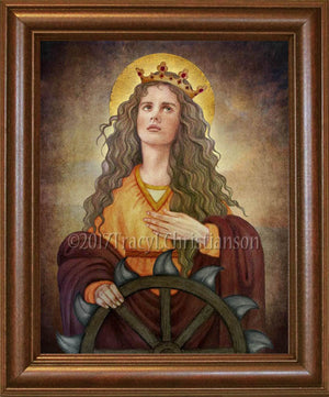 St. Catherine of Alexandria Framed