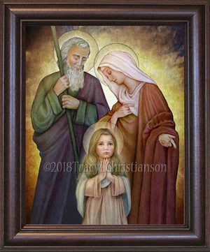 St. Joachim and St. Anne with the Child Mary Framed