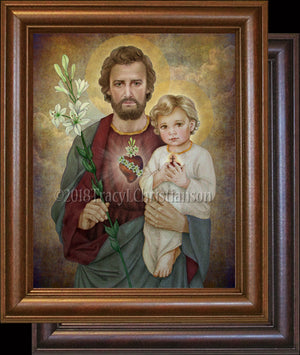 St. Joseph, The Most Chaste Heart, Framed
