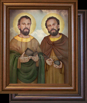 St. Cosmas and Damian Framed