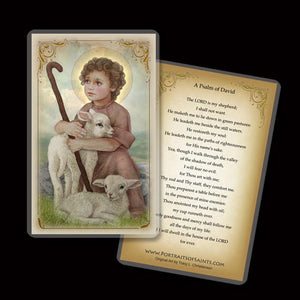 The Little Shepherd Holy Card