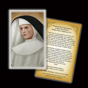 Rose Hawthorne Holy Card