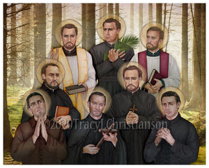 North American Martyrs Print