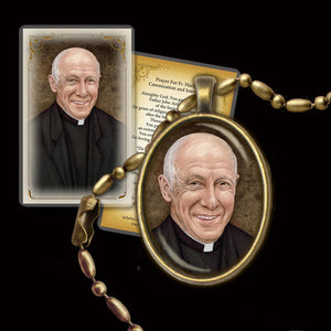 Fr. John Hardon Pendant & Holy Card Gift Set
