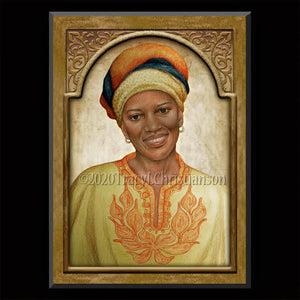 Sr. Thea Bowman Plaque & Holy Card Gift Set
