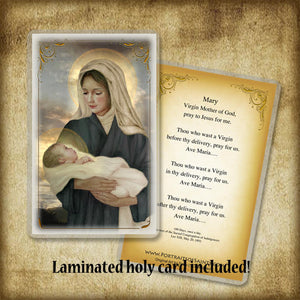 Madonna & Child (P) Plaque & Holy Card Gift Set