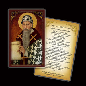 St. Cyril of Alexandria Holy Card