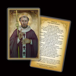 Pope St. Clement I Holy Card