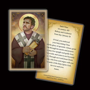 St. Titus Holy Card
