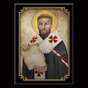 St. Peter Chrysologus Plaque & Holy Card Gift Set