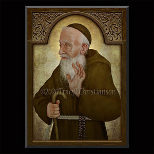St. Leopold Mandic Plaque & Holy Card Gift Set