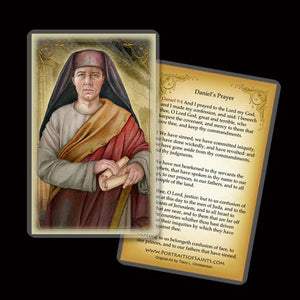 St. Daniel the Prophet Holy Card