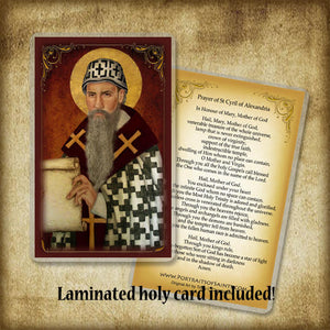 St. Cyril of Alexandria Plaque & Holy Card Gift Set